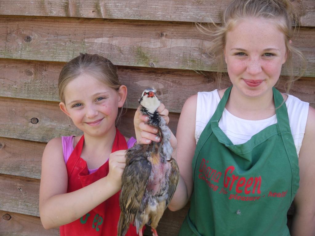 Abbie & Iona with partridge